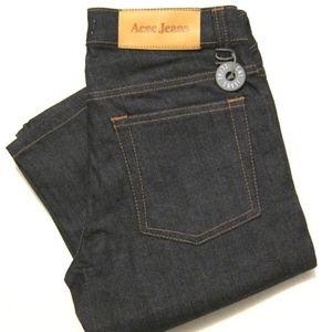 NWT Acne Jeans HEP Straight Leg in Raw indigo